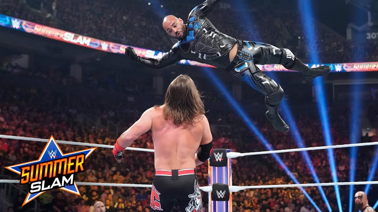 Ricochet jumps off The O.C. to take down AJ Styles: SummerSlam 2019 (WWE Network Exclusive)