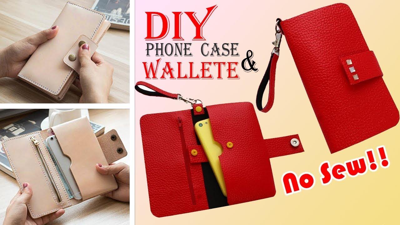 wholesale dealer a83ff 588ba DIY WALLET & PHONE CASE • Old Bag Transform No Sew Idea