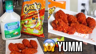 HOW TO : FLAMIN&#39 HOT CHEETO CHICKEN WINGS  SUPER EASY!  2019