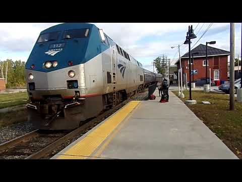 St Albans Vermont Amtrak Train Arrival