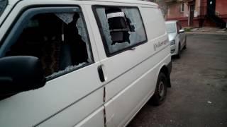 В центре Чернигова разбили машину.