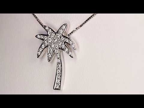 Diamond Pendant Designed By Christopher Michael Palm Tree