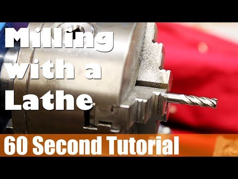 60s Tutorial - How To Do Simple Milling On A Mini Metal Lathe - 동영상