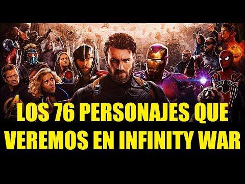 Los 76 Personajes Que Veremos en Avengers Infinity War