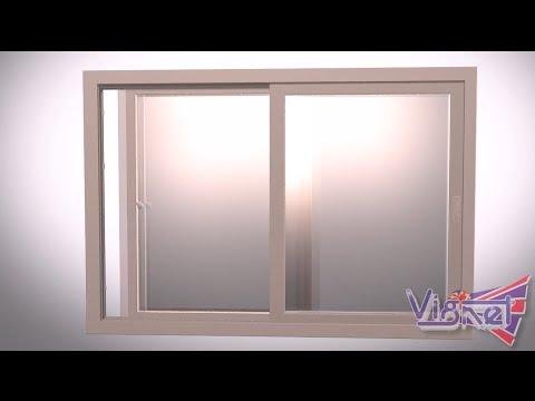 หน้าต่างบานเลื่อน ราคาคุ้มค่า กระจกประหยัดพลังงาน ระบบล็อคหลายจุด Vignet uPVC 088-758-4510