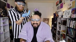 DYING MY FRIENDS HAIR BLINDFOLDED!