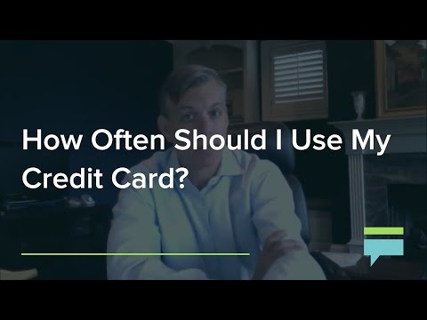 How Often Should Use My Credit Card Credit Card Insider
