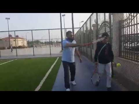 Tenis playing marine park jeddah
