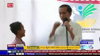 Lucunya Jokowi Belajar Ngapak ke Siswa SMP di Cilacap