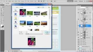 How to add effects in a blog layout in Photoshop