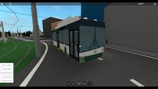 Roblox Tram driving ride with a new trolleybus! P
