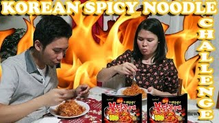 Korean Spicy Noodle Challenge & Flash Giveaway (Tagalog)| LifeWithRJandAbby