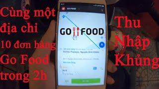 Cùng một địa chỉ nhận 10 đơn hàng Go Food thu nhập khủng | Go Việt - Go bike | GoGo TV