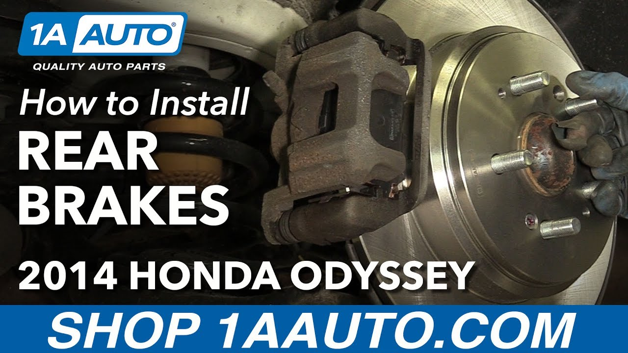 How To Install Replace Rear Brakes Pads Rotors 2011 14 Honda Odyssey