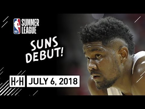 DeAndre Ayton Full Suns Debut Highlights vs Mavericks (2018.07.06) NBA Summer League - 10 Pts, 8 Reb