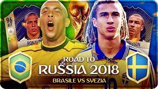 Road to Russia MONDIALI 2018 : BRASILE vs SVEZIA ! Quarti di Finale FIFA 18 #20