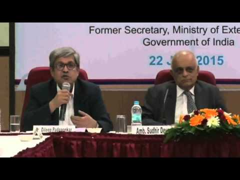 Pune International Centre: : Lecture by Amb. Sudhir Devare 'Art & Science of Policy Making' (Part 1)