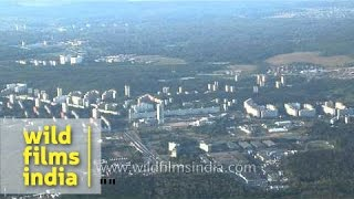 New Moscow city aerial view