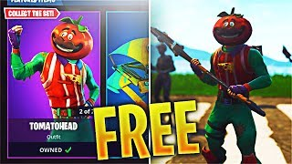 How To Get The NEW 'Tomato Head' Fortnite Skin for FREE! NEW 'Axeroni' Fortnite Axe FREE! (Update)