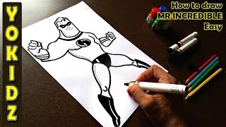 How to draw MR INCREDIBLE Easy