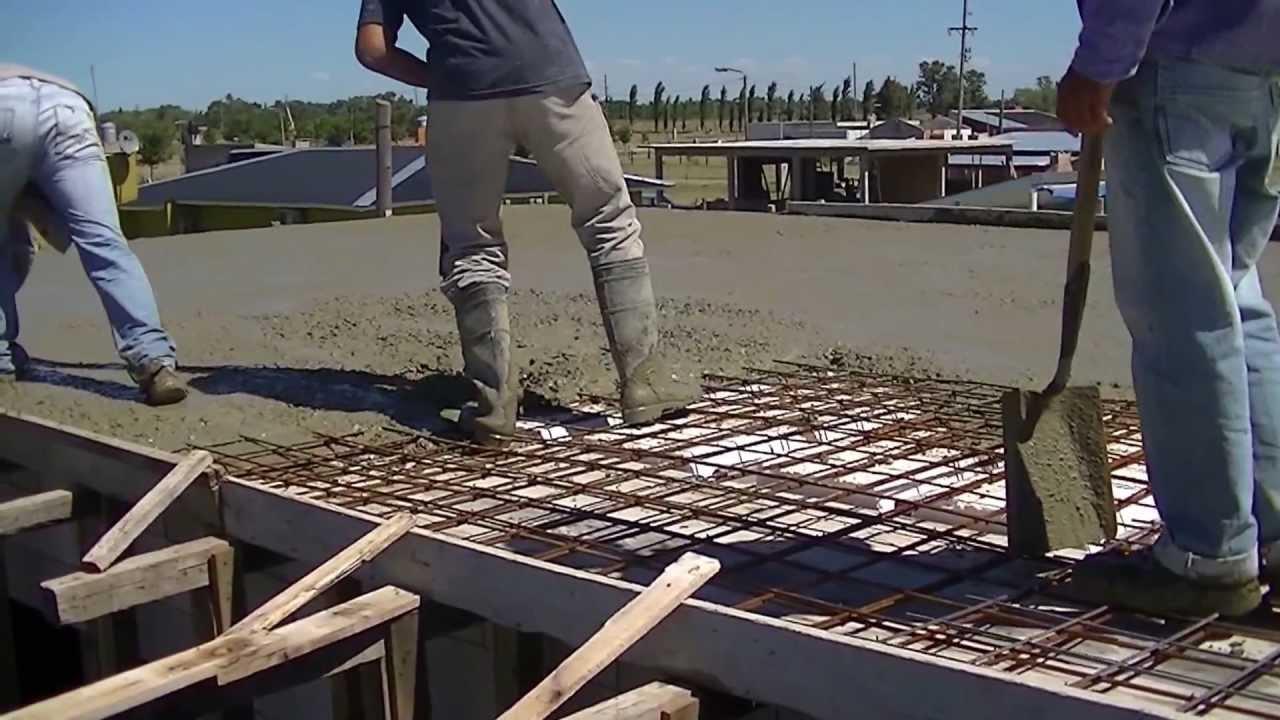 Losa aligerada llenada con bomba youtube for Losas de pared