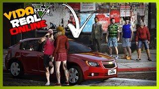 🔴 GTA V : VIDA REAL ONLINE - DEI OUTRO CARRO NOVO PRA PAULA !! #112