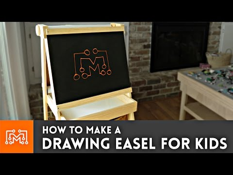 Drawing Easel for Kids (chalkboard, whiteboard, paper roll) // How-to