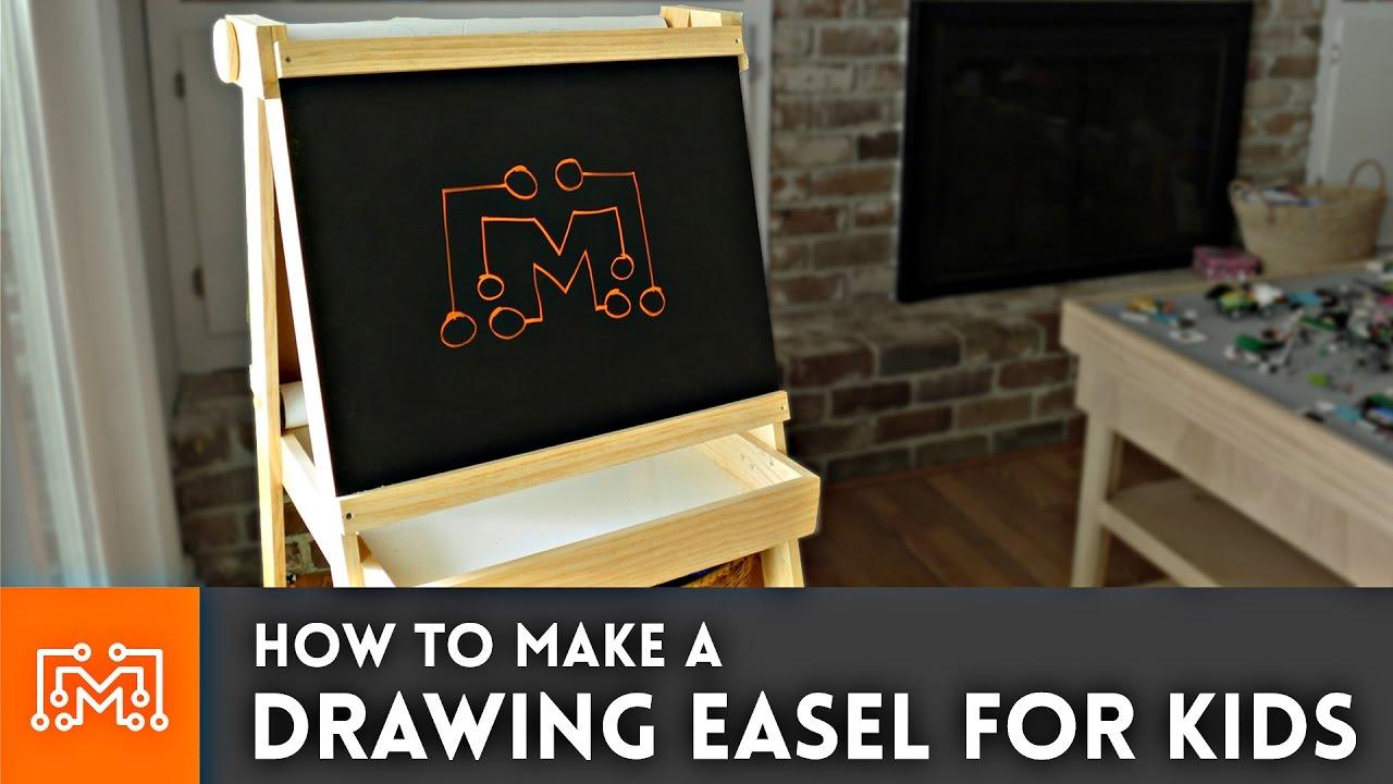 Drawing Easel For Kids Chalkboard Whiteboard Paper Roll