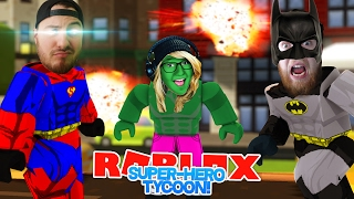 ROBLOX ADVENTURE - ROPO IS SUPERMAN, LITTLE KELLY IS THE HULK & SHARKY IS BATMAN!!