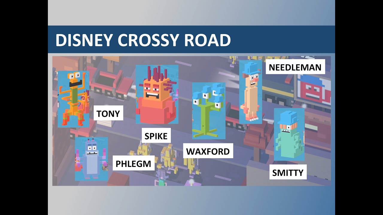 Disney Crossy Road Tony, Spike, Phlegm, Smitty, Needleman, Waxford  (Monsters Inc) Gameplay