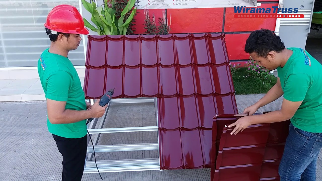 jarak reng baja ringan atap multiroof cara memasang genteng metal putra roof youtube