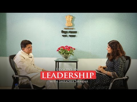 Piyush Goyal has a heartfelt talk about a changing India with Shradha Sharma
