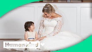Bride meets her hero flower girl
