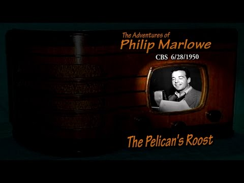 """Philip Marlowe """"The Pelican's Roost"""" CBS 6/28/50 Old Time Radio Noir Crime Drama Gerald Mohr"""