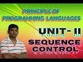 PPL Lecture 12: Language Properties Sequence Control implicit & explicit sequence control in hindi
