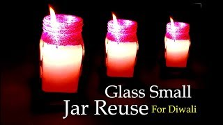 Make Candle in Glass Small Jar for Diwali-Glass Small Jar diwali diy- Tuber Tip