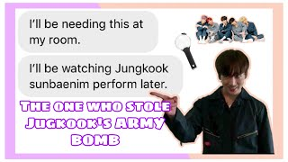 bTs TeXtS// The Who Stole Jungkook's ARMY bomb 💣 (ft. TXT)