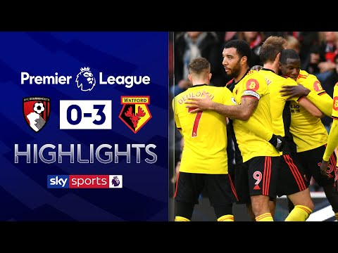 Watford escape the relegation zone with win | Bournemouth 0-3 Watford | Premier League Highlights