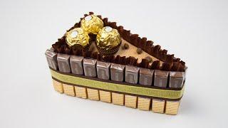 Подарок сладкоежке. Пироженка из шоколада на 23 февраля. Подарки и поделки своими руками