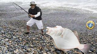 Guau!!... tremenda pesca de Lenguado con #SEÑUELO