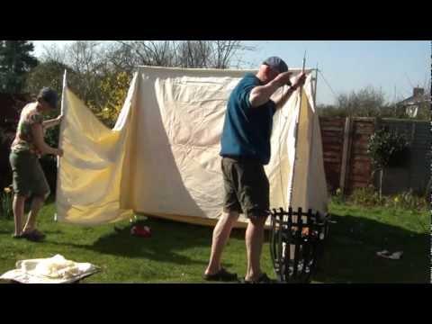 Setting up a Baker Tent & Setting up a Baker Tent - YouTube