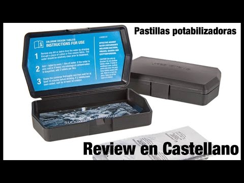 Pastillas potabilizadoras Lifesystems Chlorine Dioxide Tablets REVIEW EN ESPAÑOL