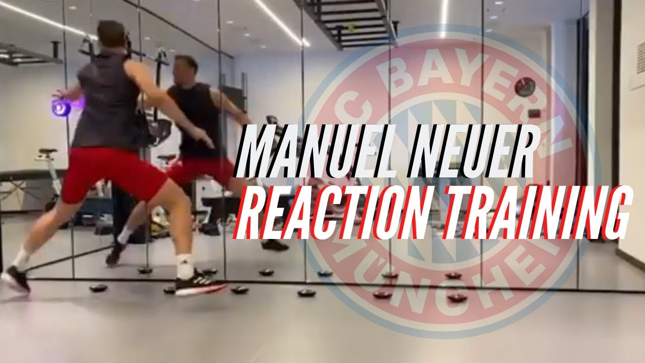 Manuel Neuer Reaction Training from Home - Goalkeeper Reaction Drills