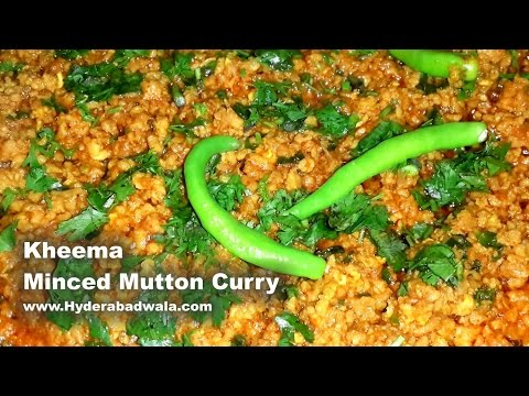 Kheema - Minced Mutton Curry Recipe Video – Easy, Simple & Quick Hyderabadi Cooking (English)