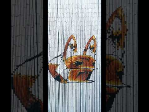 the largest bamboo bead curtain hand painted collection in Vietnam part 2