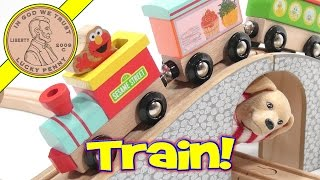 Sesame Street Natural Wood Train Set - Conductor Butch...choo Choo!