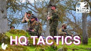 Headquarters Tactics (Spanish squad at Milsim West: Rostov Rising - Part 1) Airsoft Game