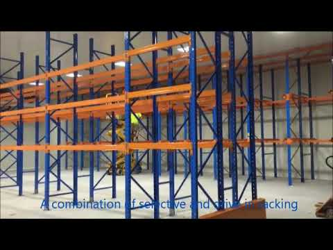 Selective and drive in racking for a coolroom in Dandenong, completed by Cosmic Storage Dandenong