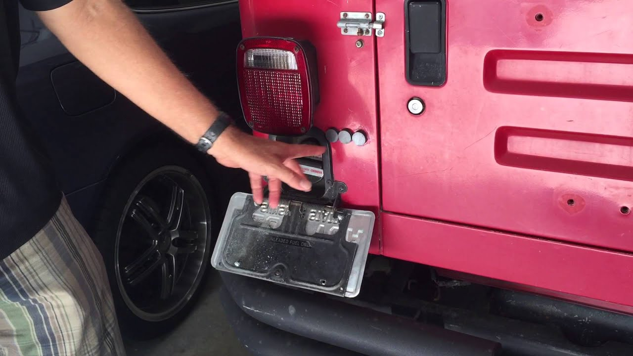 Jeep License Plate Modification Youtube