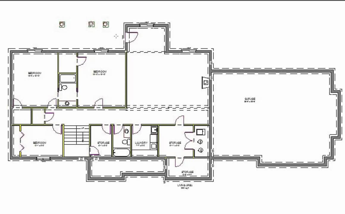 H107 Executive Ranch House Plans 2000 Sq Ft Main 4 Bedroom